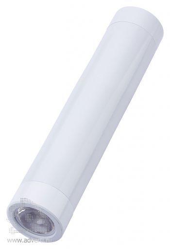 Универсальное зарядное устройство «Power bank» с фонариком, белое