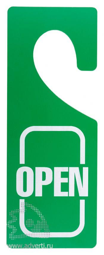 Бирки на дверь из двухслойного пластика, основа - светло-зеленый, гравировка - белый, матовый
