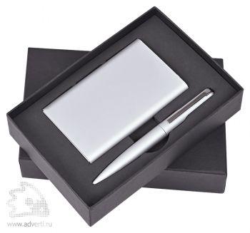 Набор «Mirror» универсальное зарядное устройство (6000мАh) и ручка, серебристый