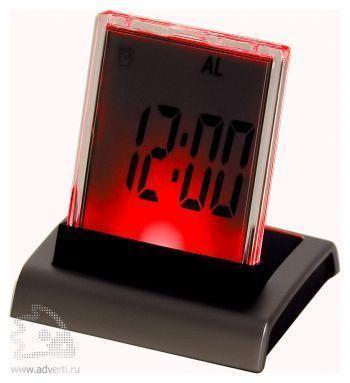 Промо-часы с разноцветной подсветкой «Дисплей», красная подсветка