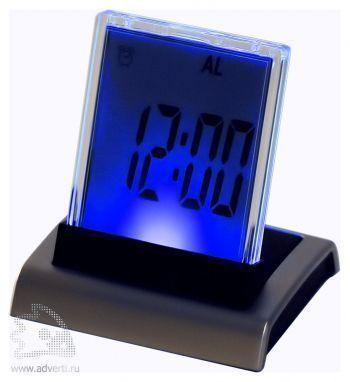 Промо-часы с разноцветной подсветкой «Дисплей», синяя подсветка