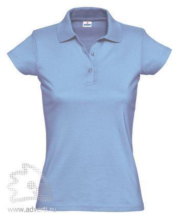 Рубашка поло «Miss Style», женская, голубая