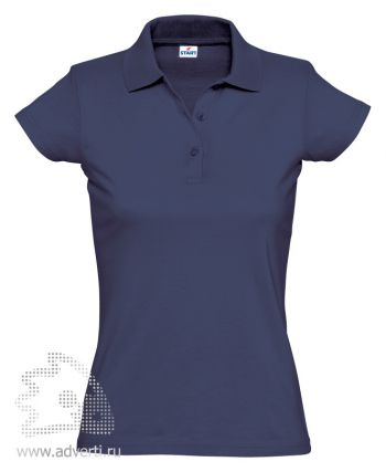 Рубашка поло «Miss Style», женская, темно-синяя