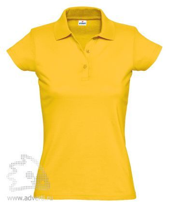 Рубашка поло «Miss Style», женская, желтая