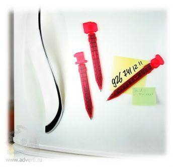 Промо-ручка на магните  «Номер один», пример использования
