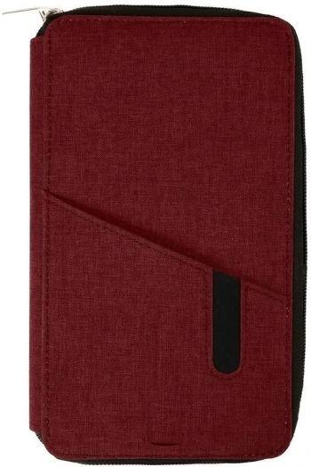 Футляр дорожный «Portable» с зарядным устройством, 4000mAh, бордовый