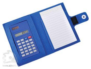 Блокнот с калькулятором «Soft», синий