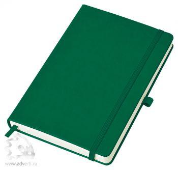 Бизнес-блокнот «Justy» A5, зеленый