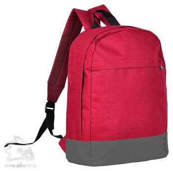 Рюкзак «Urban», красный с серым