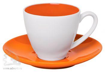 Чайная пара «Galena» в подарочной упаковке, оранжевая