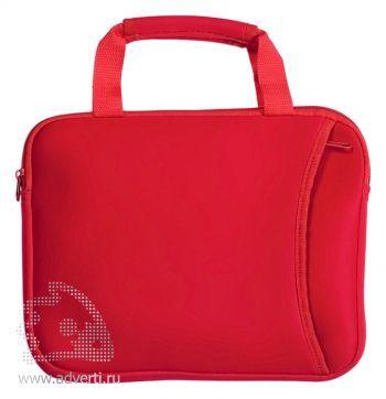 Компактная сумка для ноутбука, красная