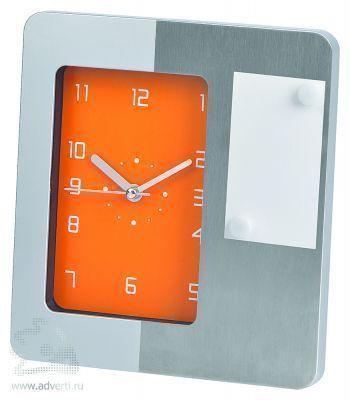 Часы настольные «Futura» с магнитами для записок, оранжевые