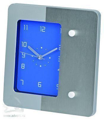 Часы настольные «Futura» с магнитами для записок, синие