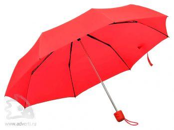 Зонт складной «Foldi», механический, красный