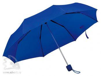 Зонт складной «Foldi», механический, темно-синий