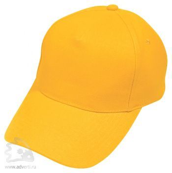 Бейсболка «Hit» 5 клиньев, желтая