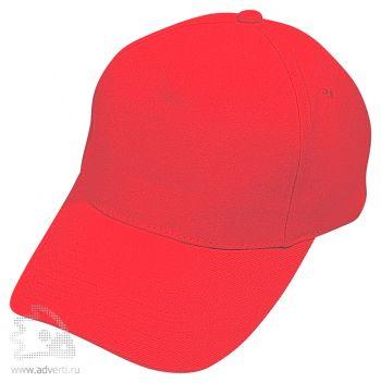 Бейсболка «Hit» 5 клиньев, красная