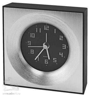 Часы настольные «Кабинет», черные с серебристым