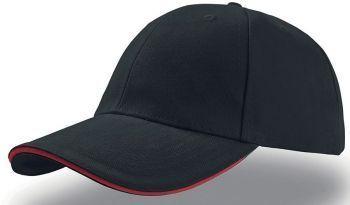 Бейсболка «Liberty Sandwich», черная с красным