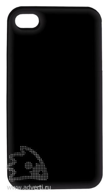 Чехлы для iPhone 4/4s, черные, глянцевые