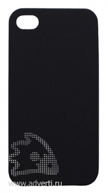 Чехлы для iPhone 4/4s, черные, soft touch