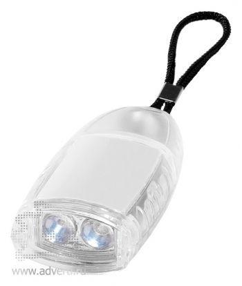Брелок-фонарик «Flipster», белый