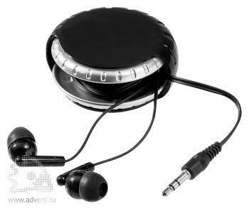 Наушники «Windi», черные с серебром