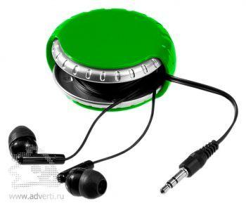 Наушники «Windi», темно-зеленые