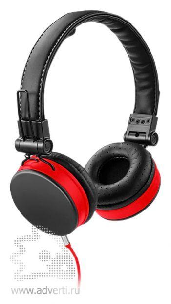 Наушники «Raver», черные с красным