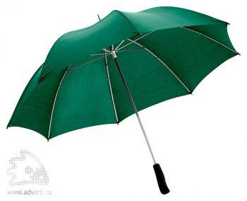 Зонт-трость «Winner» с фигурной рукояткой, механический, зеленый