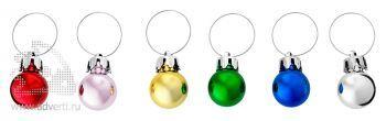Набор новогодних шаров для бокалов, цветовая гамма