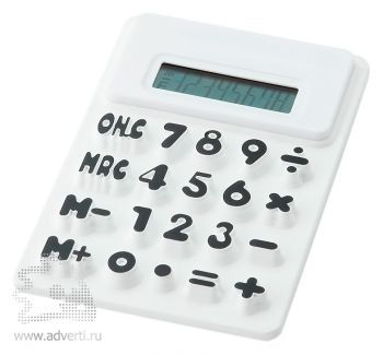 Калькулятор «Splitz», белый