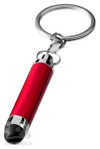 Брелок «Aria» со стилусом, красный
