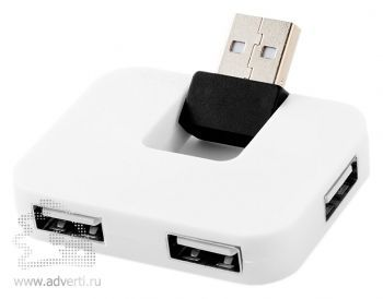 USB Hub «Gaia» на 4 порта, белый