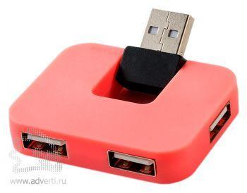 USB Hub «Gaia» на 4 порта, розовый