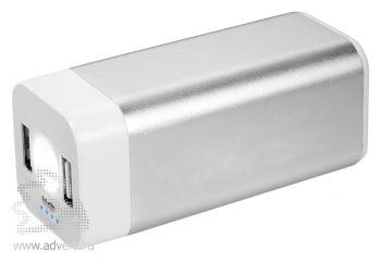 Зарядное устройство «Mega Volt» 8000 mAh, серебристое