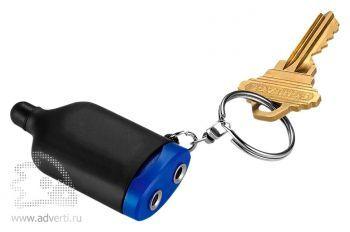 Аудиосплиттер с брелоком и стилусом «2 в 1», синий