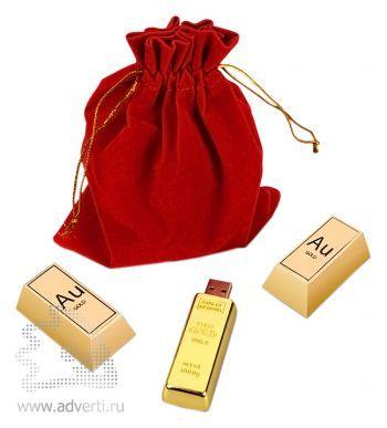 Набор «Золотой Вавилон», конфеты в виде золотых слитков и флешка на 4 Gb