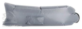 Надувной диван «Биван», серый