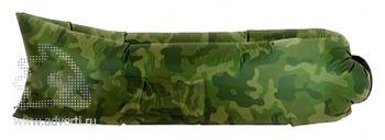 Надувной диван «Биван», темно-зеленый