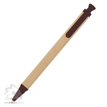 Ручка шариковая «Эко», коричневая