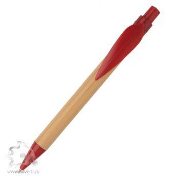 Ручка шариковая «Листок», красная