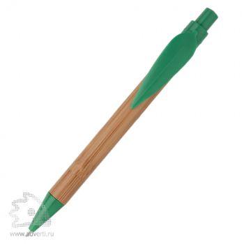 Ручка шариковая «Листок», зеленая