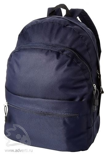 Рюкзак «Trend» с 2 отделениями на молнии и внешним карманом, темно-синий