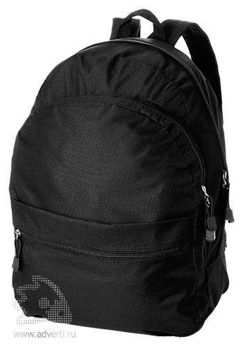 Рюкзак «Trend» с 2 отделениями на молнии и внешним карманом, черный