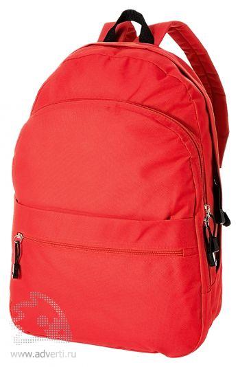 Рюкзак «Trend» с 2 отделениями на молнии и внешним карманом, красный