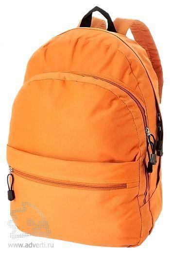Рюкзак «Trend» с 2 отделениями на молнии и внешним карманом, оранжевый