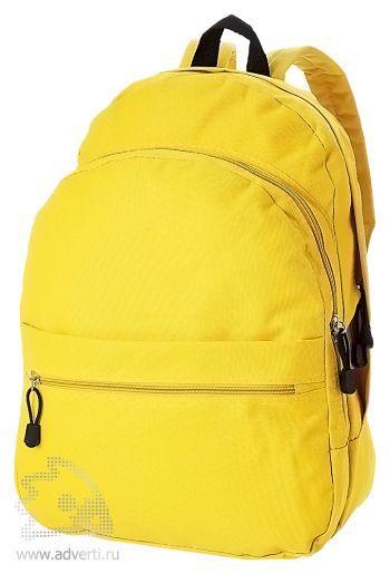 Рюкзак «Trend» с 2 отделениями на молнии и внешним карманом, желтый