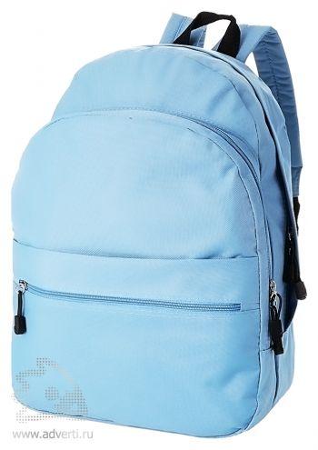 Рюкзак «Trend» с 2 отделениями на молнии и внешним карманом, голубой