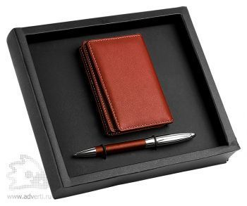 Набор: визитница, ручка «Вернацца»